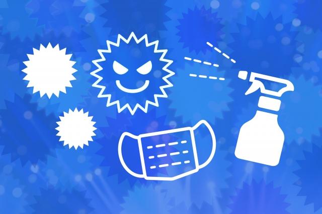 ウイルス 消毒 イメージ